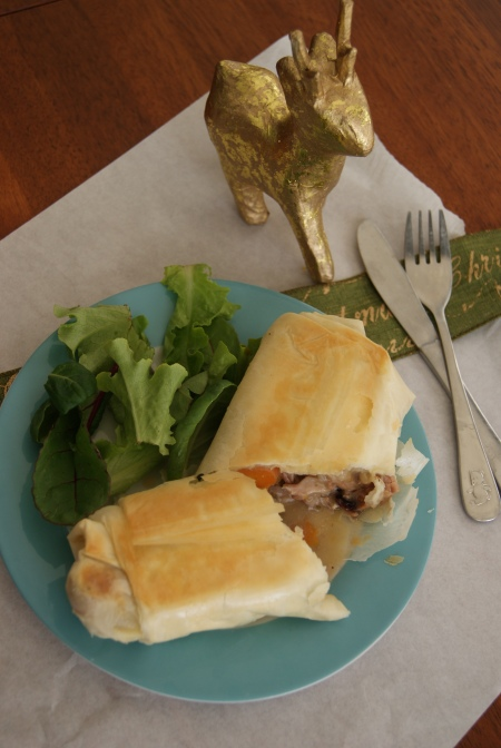 Leftover turkey rolls