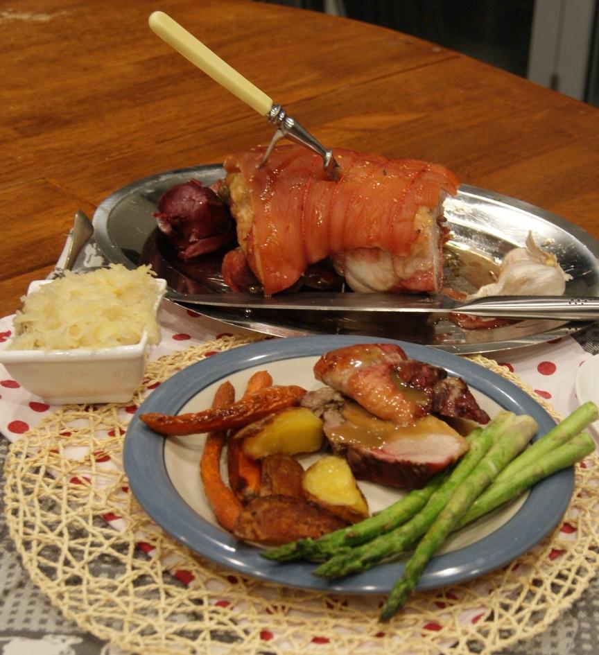 Full set pork roast